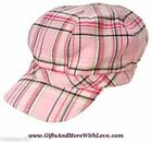 Gymboree NWT Pink Plaid CLASSROOM KITTY PAGEBOY DRESS HAT CAP 5 6 7 8 + Years