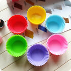 12PCS Reusable Silicone Cupcake Liners Muffin Cups Dessert Baking Chocolate Mold