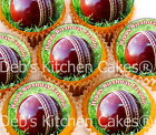 Cricket Cupcake Toppers - Personalised Pre-cut Cricket Cake Toppers x 24