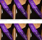 1pc Bride To be Hen Party Sashes Night Out Accessory Wedding Sash Purple