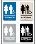 blue color schemes for kitchens - ADA Approved Braille UNISEX WHEELCHAIR Restroom Sign 6