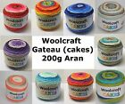 Woolcraft Gateau - 200g Aran weight (max postage £2.60 any number of balls)