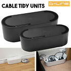 Wire Tidy 6 4 Way Large Small Black Extension Cable Management System TV AV DVD