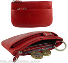 Ladies Mens Soft Leather Credit Card & Coin Zip Purse, 4 Colours
