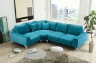 New corner sofa Modern fabric large deep modular group real pictures of sofa