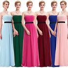 Formal Long Strapless Evening Prom Party Bridesmaid Ball Gown Cocktail Dress