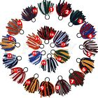 """6"""" Cheerleading Two Tone Roll Korker Hair Bow Pony Tail Holder Headwear 21-Color"""