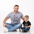 My Dad is My Hero Fathers Day Shirt Matching Tees Father Son Baby Kid Toddler