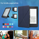 Origami Slim Case Plain Stand Leather Cover For Amazon Kindle Paperwhite 1 2 3