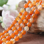 """Natural 5A Carnelian Agate Gemstone Round Beads 15"""" 6mm 8mm 10mm 12mm"""