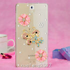 Glitter Luxury Bling Diamonds Pearls love heart Hard Phone back Case Cover #A20