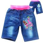 New Trolls Girls Children Kids Summer Short Denim Jean Waist Pant Cloth