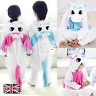Children Kids Boys Girls Frozen Pajamas Unisex Cosplay Animal Costume Unicorn