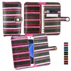 Vintage Stripes PU Leather Wallet Case Cover Sleeve Holder for Vonino Phones