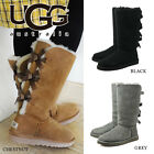 NEW Women's Shoes UGG Australia Bailey Bow Tall Boot 1007308 Black Grey Chestnut