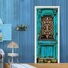 3D Old Blue Gate 4 Door Wall Mural Photo Wall Sticker Decal Wall AJ WALLPAPER AU