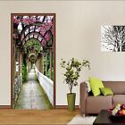 3D Aisle Flowers 6 Door Wall Mural Photo Wall Sticker Decal Wall AJ WALLPAPER AU