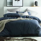 NEW Dark Denim Linen & Cotton Quilt Cover Set