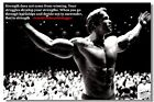 Arnold schwarzenegger Body Building Strengths Sport Home Deco Winning Poster