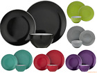 Complete Dinner Set Round Plates Bowls Stoneware Dinnerware Kitchen Dining Set