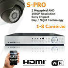 8ch 1080P Security System CCTV 2MP Full HD Sony Coms Dome camera p2p Cloud kit