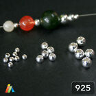 925 STERLING SILVER SEAMLESS ROUND BEADS 1.8 - 4mm SPACER JEWELRY FINDINGS
