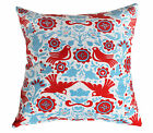 LA PALOMA RED BLUE BIRD MEXICAN FOLK ART SCATTER CUSHION COVER THROW PILLOW 45cm