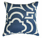 "OUTDOOR INDOOR THROW CUSHION COVER NAVY BLUE CARMODY SOFA LOUNGE PILLOW 16"" SALE"