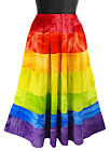 Rainbow Tie-Dye Skirt Stripes Multi-Color Tiered -NEW- Sizes S, M, L, XL Summer