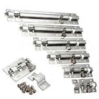 Stainless Steel Door Latch Barrel Bolt Latch Hasp Stapler Gate Lock Safety Eager