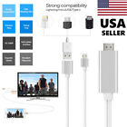 3 in1 USB to HD HDMI HDTV Mirroring Cable Adaptor for iPhone 6 6S 7 7 Plus USA