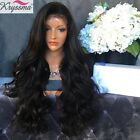"""16-18"""" Body Wave Indian Remy Full Lace Front Human Hair Wigs For Black Women"""