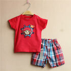 Baby Toddler Children Boys Clothes New Red T-shirt+Shorts Sets Outfits 2-3T