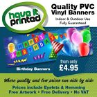 PVC Heavy Duty Indoor/Outdoor Business or Event Birthday Banners Free Design !