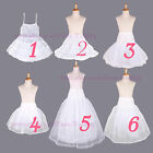 Flower Girl Net Prom Underskirt/Bridesmaid Hoop Crinoline/Communion Petticoat