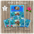 MOANA BIRTHDAY PARTY PERSONALISED CHOCOLATE WRAPPERS X 10