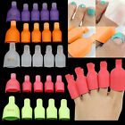 5X Toenail Soak Off Clip Caps Nail Art Tips Polish UV Clamp Remover Wrap Eager