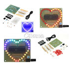 DIY Kit Heart-shaped LED Red Blue Colorful Light Water Electronic Flashing Suite