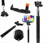 Monopod Selfie Stick Telescopic+Bluetooth Wireless Mobile Phone Holder Black