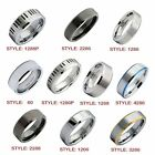 Tungsten Carbide Rings 6mm and 8mm Color and Size Variation
