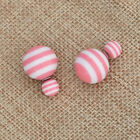 Double sided Striped Faux Pearl Stud Earring