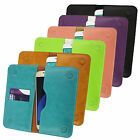 PU Leather Magnetic Slim Wallet Case Cover Sleeve Holder fits Mode phones