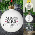 Personalised Christmas Wedding First 1st Xmas Tree Bauble Decoration Gift Idea