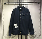 Oversize VTM St Heavy Cotton Workwear Long Sleeve Shirts Navy Red White