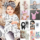 Cute Toddler Kids Baby Girl Boy Clothes Bodysuit Romper Jumpsuit Outfits 0-24M
