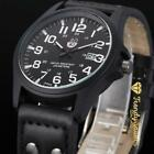 Men's Military Leather Date Quartz Analog Army Casual Dress Wrist Watches  New with tags