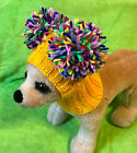 Pet Clothes Knit Hat Hoodie Snow Hat With Big Pom Poms for Small Dog XXS XS S