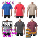 6 PACK PROCLUB PRO CLUB MENS PLAIN T SHIRT HEAVYWEIGHT SHORT SLEEVE COTTON TEE image