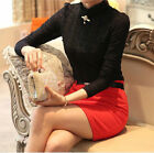 New Fashion Womens Long Sleeve Shirt Casual Lace Blouse Loose Cotton Top T Shirt