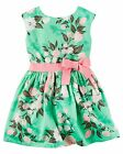 Carter's   Toddler Girls' Sateen Floral Dress    MSRP$42.00   2T--5T